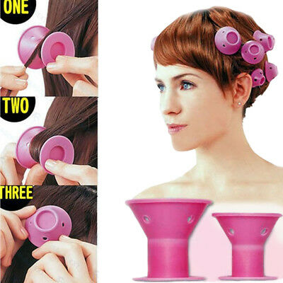 10pc Silicone Hair Curler Magic Hair Care Rollers No Heat Hair Styling Tool
