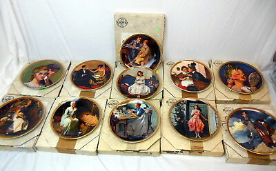 Edwin Knowles Norman Rockwell Rediscovering Women Series Plates 11 Boxed w/ Cert