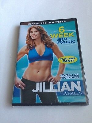 Jillian Michaels - 6 Week Six-Pack DVD New Sealed Exercise Workout Ripped Abs
