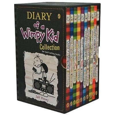 Diary Of A Wimpy Kid 10 Book Box Set Collection Jeff Kinney Paperback Slipcase