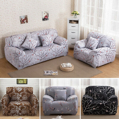 1/2/3/4 Seater EASY Stretch Couch Sofa Lounge Covers Recliner Dining Chair Cover