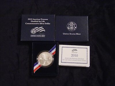 2010 American Diabled Veterans 1oz Uncirculated Silver Dollar - Free Shipping