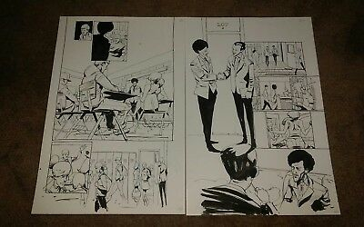 Tyler Jenkins - Peter Panzerfaust #6 Original Art Pages Page 2 + 3 Consecutive