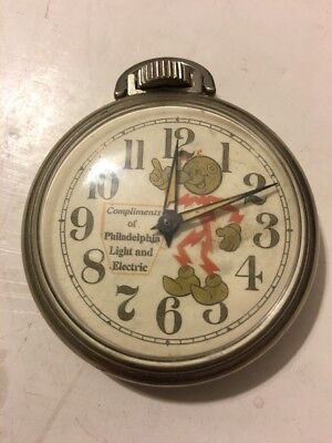 Reddy Kilowatt Advertising Pocket Watch! Philadelphia Light And Electric