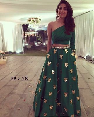 Indian Bollywood Designer Western Type Lehenga Choli With Gorigious Clour FB 28