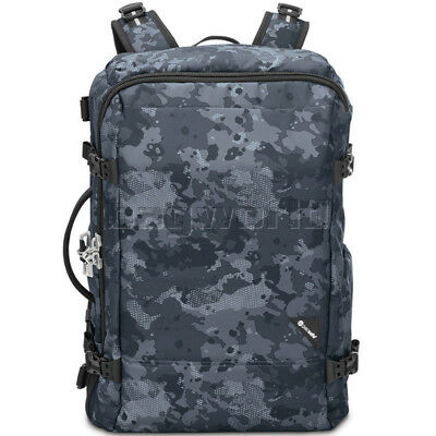"Pacsafe Vibe 40 Anti-Theft 40L 15.4"" Laptop Backpack Grey Camo 60310"