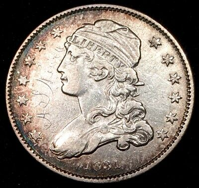 1831 Capped Bust Quarter Small Letters - XF+ Extra Fine+ Details