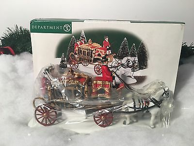 New Department 56 Dickens Village Series The Queens Parliamentary Coach #58454