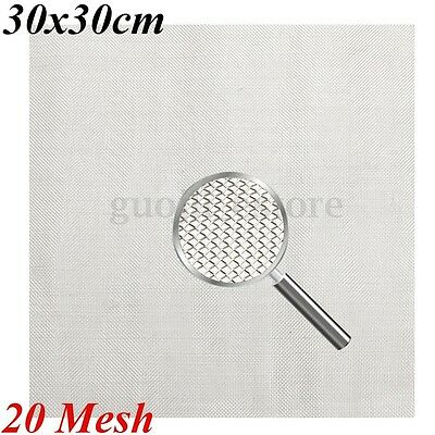 30CM 20 Mesh Filter Woven Wire 304 Stainless Steel Square Water Oil Industrial