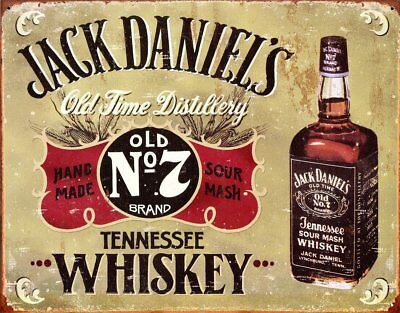 Jack Daniels Tin Sign Vintage Retro Classic Bar Club Decor Old No. 7 Whiskey New
