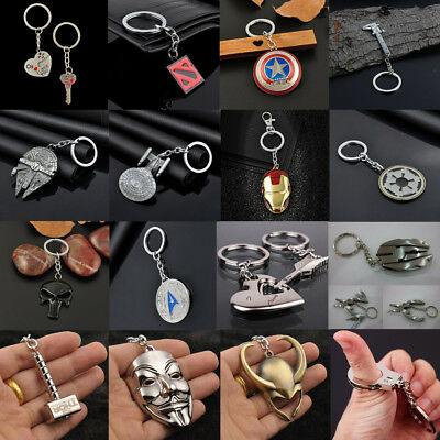 Keychain Anime Figure Pendant Alloy Metal Keyring Key Chain Ring Keyfob Gift