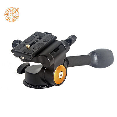 Q08 Aluminum DSLR Camera Handle Tripod Ball Head Rocker Arm 3-Way 3D Monopod
