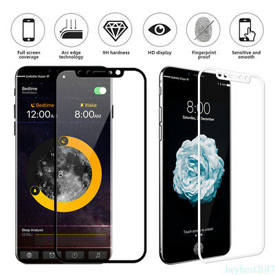 For iPhone XS Max XR X Full Cover 3D Tempered Glass Shield Screen Protector film