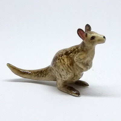 Zoo Craft Miniature Collectible Porcelain Ceramic Kangaroo Figurine Animal