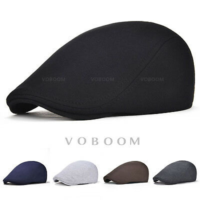 VOBOOM Men's Winter Warm Cotton Gatsby Ivy Cap Cabbie Newsboy Golf Flat Hat