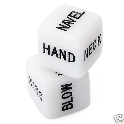 2Pcs Sexy Dice Love Mens Lady Women Adults Her Novelty Fun Adult Gift Joke Toys
