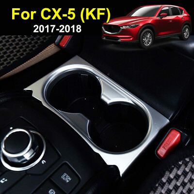 For Mazda Cx-5 Cx5 2017 2018 Chrome Cup Drink Holder Cover Trim Center Console