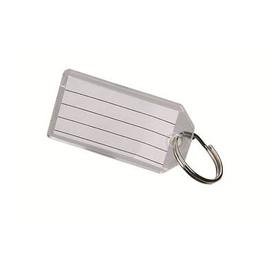 Clear Key Tag with Split Ring Bulk 40 count