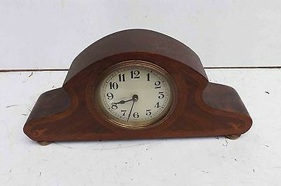 Edwardian inlaid mantle clock.