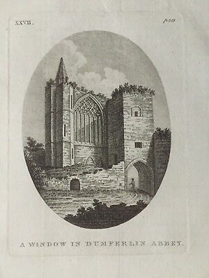 1772 Antique Print; Dunfermline Abbey, Fife after Moses Griffith