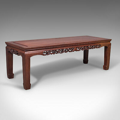 Mid-Century Chinese Coffee Table, Traditional Form, Rosewood Bench