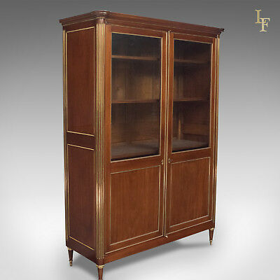 19th Century French Louis XVI Revival Two Door Bookcase Vitrine Cabinet, c.1880