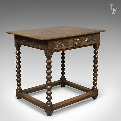 Early Georgian Antique Side Table, English Oak, c.1750