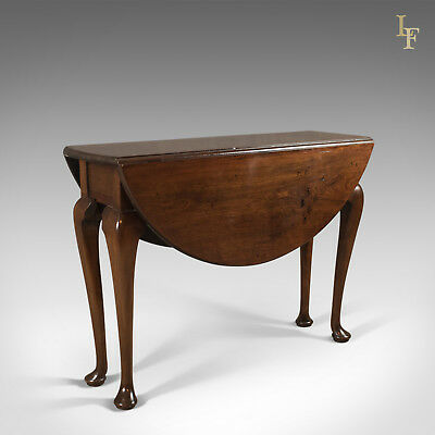 Antique Drop Flap Dining Table, Mahogany, English, Early Georgian c.1740