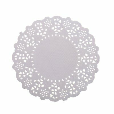 kKINGZHUP 200 pcs 4.5inch White Round Disposable Lace Paper Doilies Cake Coaster