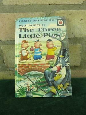Vintage Ladybird book well loved tales The Three Little Pigs  606D  30p gloss