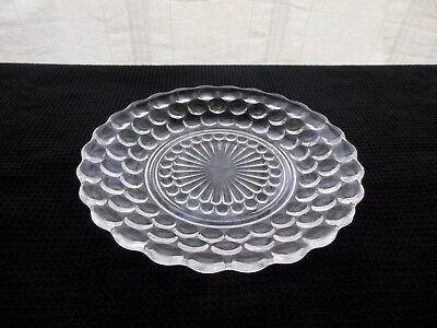 "Anchor Hocking Glass Clear Bubble 6 3/4"" Bread & Butter Plate Saucer"