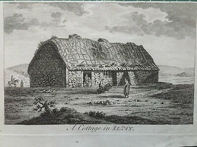 1772 Antique Print; Cottage on  Islay, Hebrides after Moses Griffith