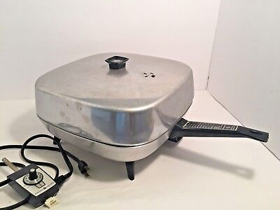 Vintage General Electric GE Electric Frying Pan Skillet 1970's good Condition