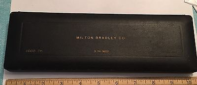 Antique Milton Bradley Co Ecco German Drafting Set Complete Fitted Box