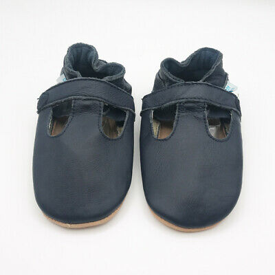 *SECONDS* Dotty Fish Boys / Girls Soft Leather Baby and Toddler T-bar Shoes