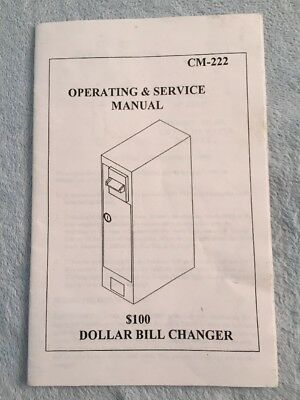Antares Dollar Bill Changer CM-222 Operating & Service Manual
