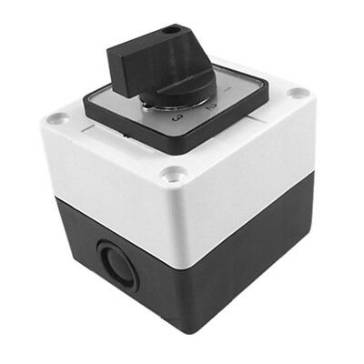 Ui 660V Ith 20A Rotary Selector 0-3 Position Changeover Cam Switch Black+wh P1O5