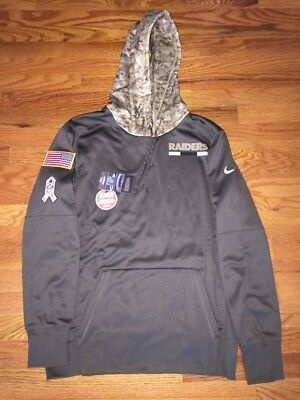 new arrival c14a8 8a332 2017 OAKLAND RAIDERS Salute to Service Military Camo Hoodie RARE/SOLD OUT -  M-XL