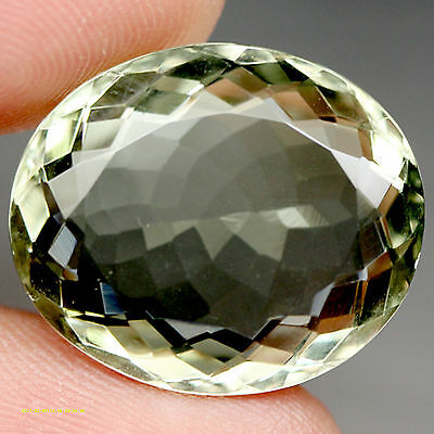 24.80 Ct Aaa! Natural! Green Uruguay Amethyst Oval