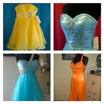 NWT Formal Dresses 10 pc LOT Prom Bridesmaid Homecoming Pageant WHOLESALE GOWN