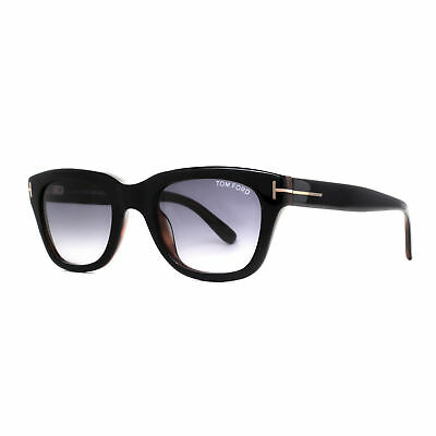 763b661f4a5d Tom Ford Snowdon TF 237 05B 50mm Shiny Black Gray Gradient Men Square  Sunglasses