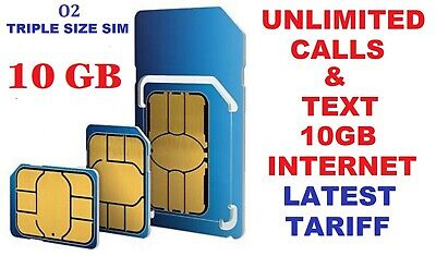 New Official O2 Network Pay As You Go 02 Sim Card Sealed Unlimited 8 Gb Net