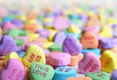 Valentines Day Candy Hearts -  Art Picture Poster Photo Print 1VAL