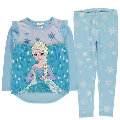 Girls Disney Frozen Elsa fleece Pyjama Set  Nightwear twoies 3-8 Years