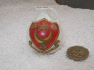 Vintage Model Of A Very Small Jug  Crested Wareham By Savoy China