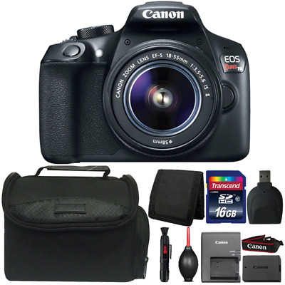 Canon EOS Rebel T6 Digital SLR Camera with 18-55mm Lens and Accessories