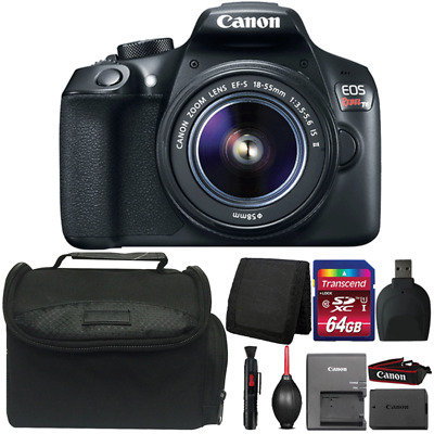 Canon EOS Rebel T6 18MP Digital SLR Camera with 18-55mm Lens and Accessories