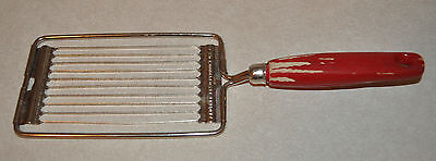 VTG 1950's Ekco Miracle TOMATO SLICER Egg Cheese Slicer RED WOOD Handle USA MADE