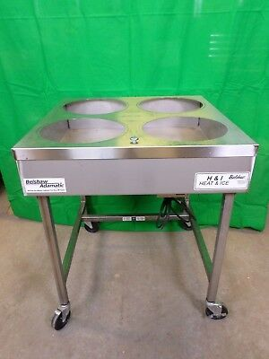 Belshaw 4 Bowl Heated Icing Warmer, Donut Heat & Ice Glazing Table H&I 4  #672
