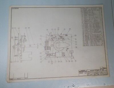 Original 1964 Step Up Unit Engineer Pencil Drawing For Williams Beat the Clock!